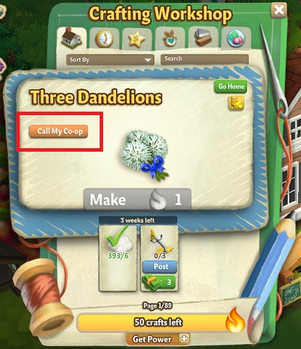 All's Fine and Dandelion - FarmVille 2