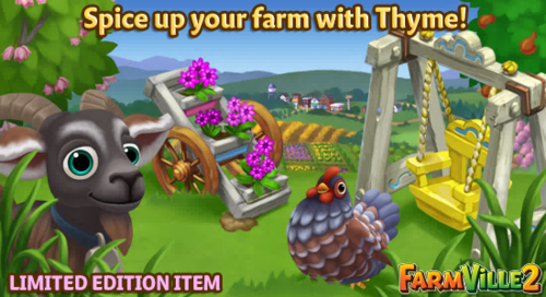 Spice up your farm with Thyme LE - FarmVille 2