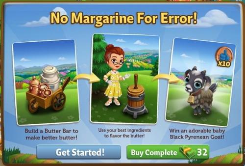 No Margarine For Error - FarmVille 2