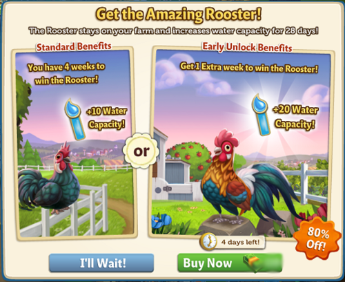 Get the amazing Rooster - FarmVille 2