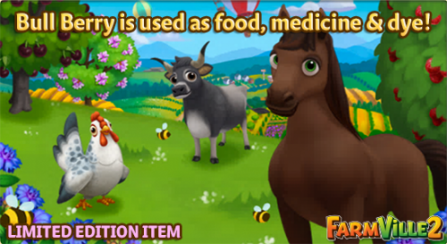 Bull Berry is used as food, medicine & dye LE - FarmVille 2