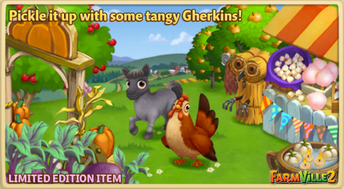 Pickle it up with some tangy Gherkins! LE - FarmVille 2