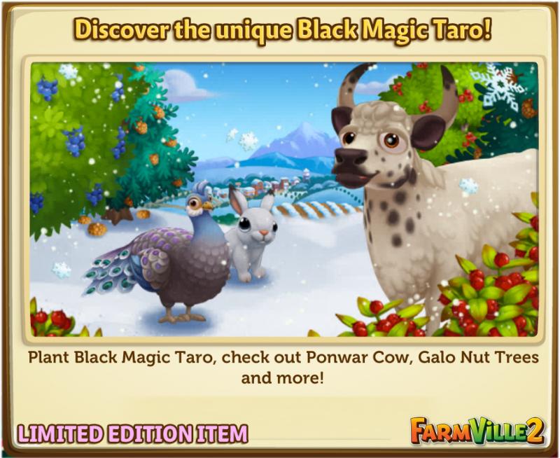 Discover the unique Black Magic Taro! - FarmVille 2