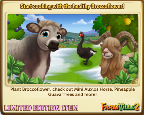 Start cooking with the healthy Broccoflower! LE - FarmVille 2
