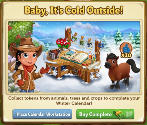 Calendar Workstation - FarmVille 2