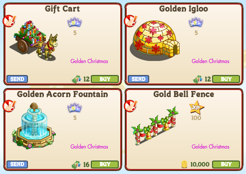 Farmville Limited Edition Christmas Decorations 2020 Official Guide: Walkthrough: New Limited Edition Items ( Golden