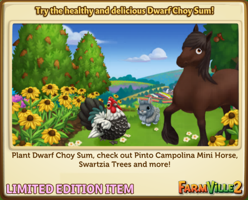 Try the healthy and delicious Dwarf Choy Sum! LE - FarmVille 2