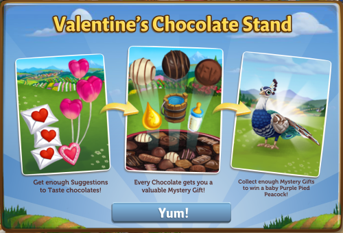 Valentine's Chocolate Stand - FarmVille 2