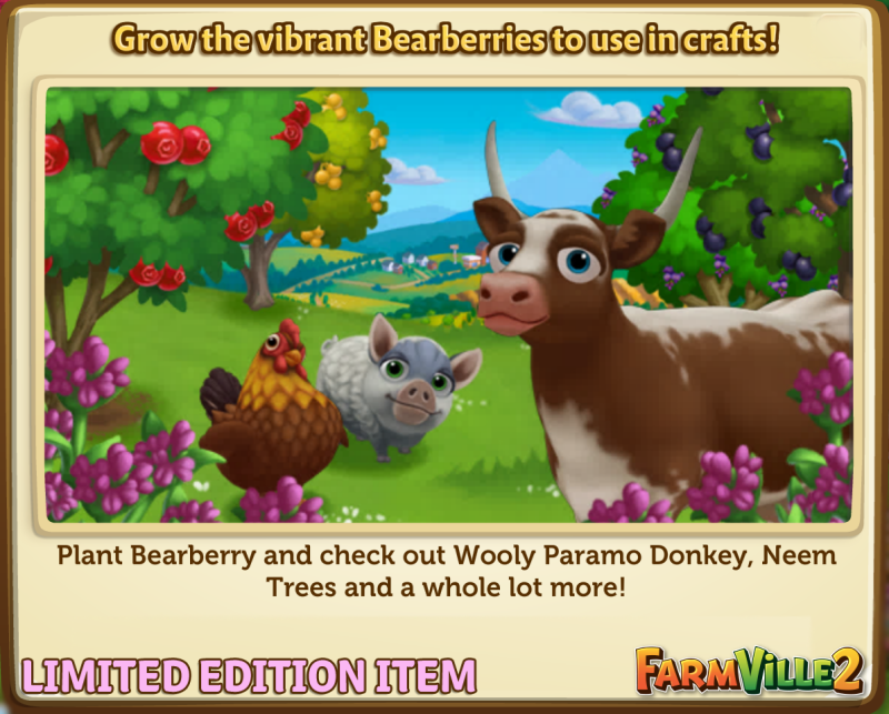 Grow the vibrant Bearberries to use in crafts! LE - FarmVille 2