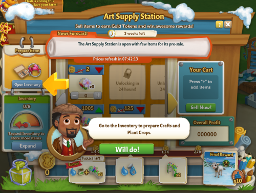 Art Supply Station 11
